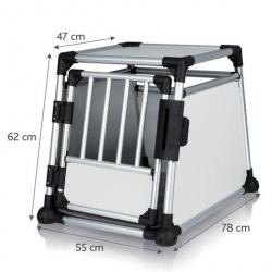 Cage de transport pour chien Alu Autobox