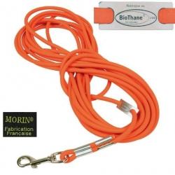 Longe ronde Biothane, orange fluo