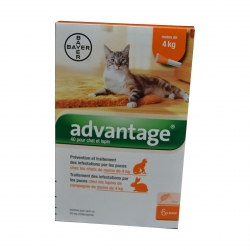 ADVANTAGE 40 CHAT LAPIN -4KG