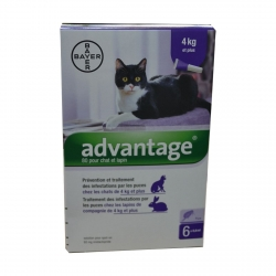 ADVANTAGE 80 CHAT LAPIN +4KG