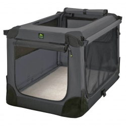 CAGE PLIANTE soft kennel Maelson. Coloris Anthracite