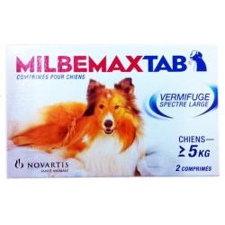 MILBEMAX TAB vermifuge chien de plus de 5 kg