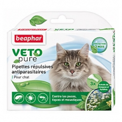 Pipettes insectifuges chat