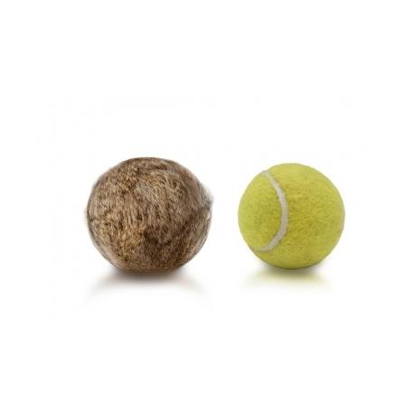 Balle tennis-fourrure