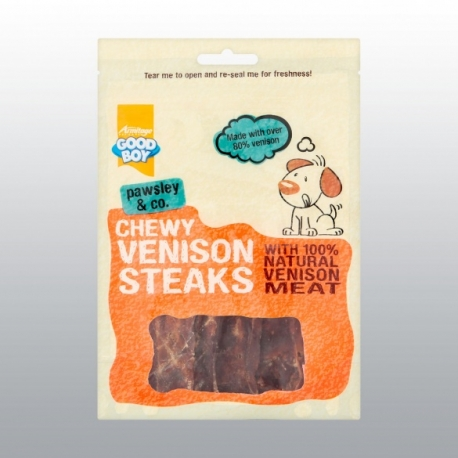 STEAK CHEWY VENISON GOOD BOY 80 g
