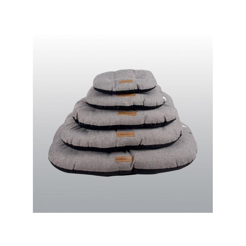 COUSSIN OLERON Gris clair / 64 x 42 x 14 cm