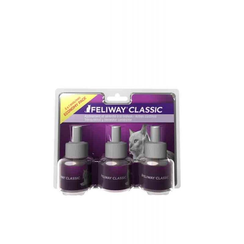 FELIWAY CLASSIC - PACK DE 3 RECHARGES 48 ML