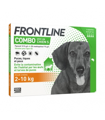 FRONTLINE COMBO SPOT-ON CHIEN S - 4 pipettes