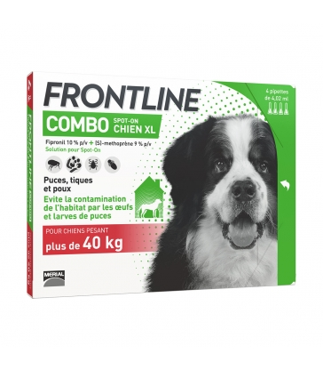 FRONTLINE COMBO SPOT-ON CHIEN XL - 4 pipettes