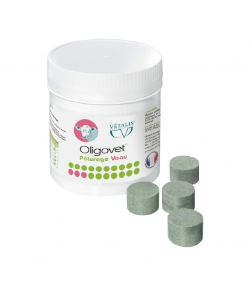 Oligovet Paturage Veau - Pot de 25 bolus