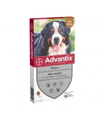 """Advantix Très grand chien"""" - Boîte de 6 pipettes"""""""