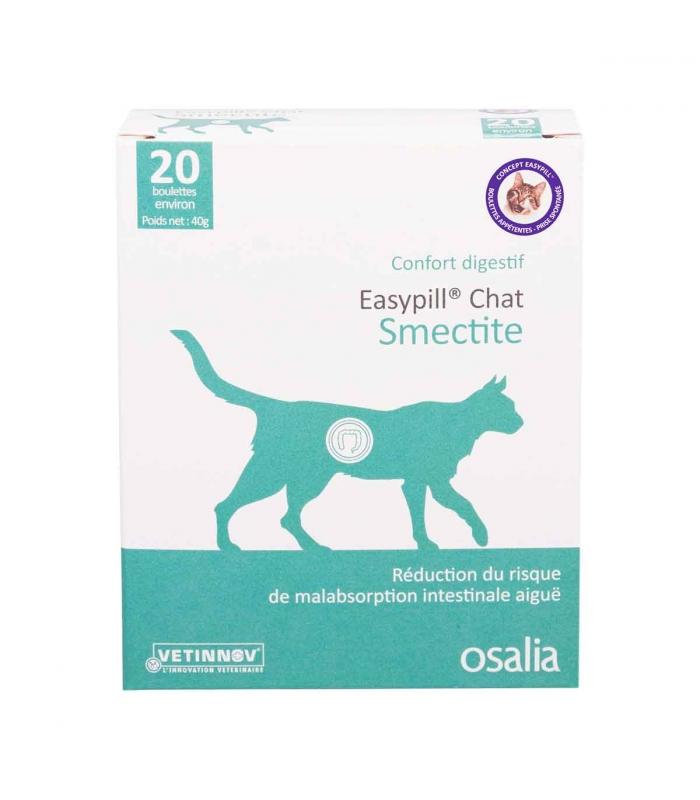 Easypill Smectite Chat - Boîte de 20 boulettes
