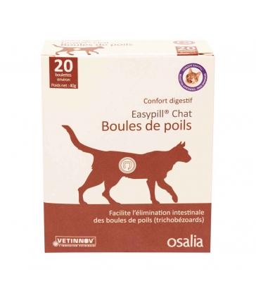 Easypill Chat Boules de Poils - Boîte de 20 boulettes
