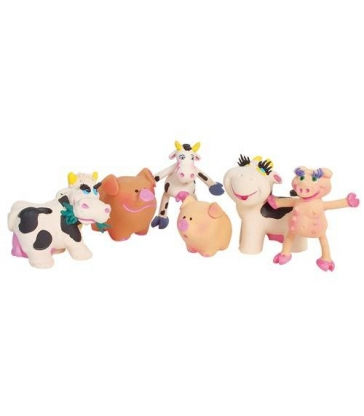 "Lot de 24 jouets Latex ""Ferme"""
