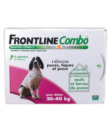 Pipettes Frontline Combo Chien Large