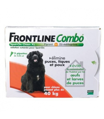 Pipettes Frontline Combo Chien XL