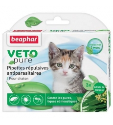 Pipettes répulsives anti-parasitaires Beaphar Chaton