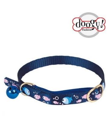 "Collier ""poisson"" chat bleu"
