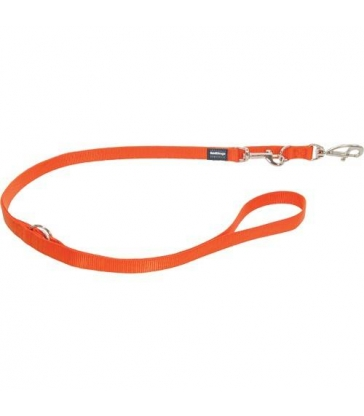 Laisse 3 positions Red Dingo Basic orange