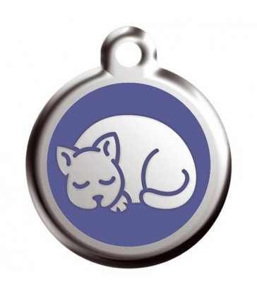 "Médaille Red Dingo bleue ""chat"""