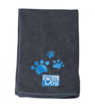 Lot de 2 serviettes Microfibre Idealdog grises