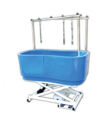 Baignoire de toilettage polyéthylène sur châssis Bleue