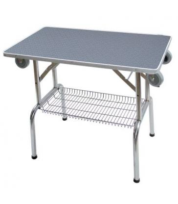 Table pliante à plateau antidérapant avec roulettes (PM)