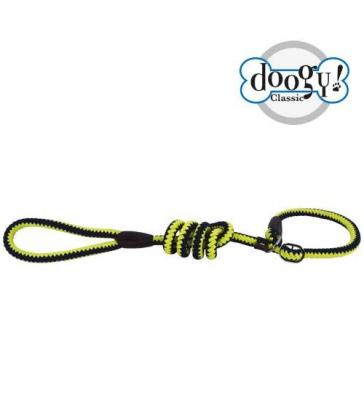 Laisse lasso corde fluo jaune et bleu