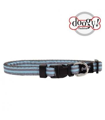 Collier nylon fantaisie Doogy bleu marin