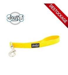 Laisse-poignée PVC fluo jaune Doogy Classic
