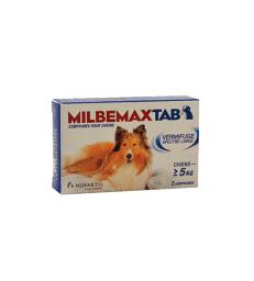 Milbemaxtab Chien . Boîte de 2 comprimés