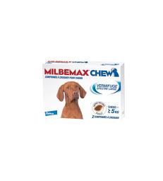 Milbemax Chew pour chien .Boîte de 2 comprimés à croquer