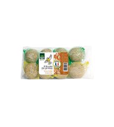 Boules de graisse Arachides + Insectes . Sachet de 8