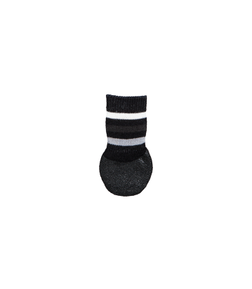 Chaussette protectrice av.semelle anti-dérapante pour chien