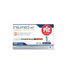 Seringue à insuline Pic UU . 40 UI - 1 ml - G30 - Boîte de 30