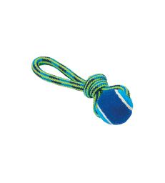Jouet chien Buster : Tuggaball . Taille S - Lg : 18 cm - Bleu/Vert