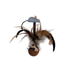 Jouet chat : volant Culbuto . Lg : 15 cm
