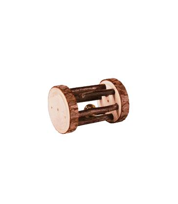 Jouet rongeur : rouleau de jeu en bois