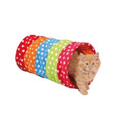 Tunnel de jeu pour chat . D : 25 - L : 50 cm - Multicolore