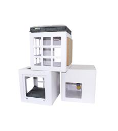Arbre à chat Katt3 BeOneBreed .3 cubes de 36 x 36 x 36 cm et accessoires