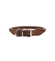 Collier cuir Hunter Round & Soft .0,8 cm - Lg : 33 à 37 cm - Taille 40 - Marron