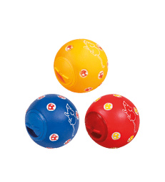 Jouet chat : balle distributrice .D : 7 cm - Coloris assortis