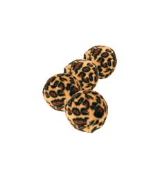 Jouet chat : balle Léopard . D : 4 cm - Sachet de 4