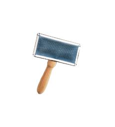 Carde en métal à manche en bois .Taille 1 - PM - L6 x P4 cm