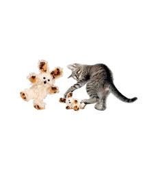 Kong Cat Softies Fuzzy Bunny . 14 cm - Coloris assortis