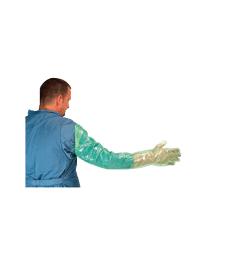 Gant obstétrique Krutex UU . Large - Lg : 95 cm - Boîte de 100 - Vert - Soft Examination