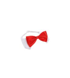 Accessoire Noël chien/chat : Noeud papillon . T4 - Lg : 55/65 - 70 cm - Rouge / Blanc