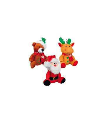 Jouet Noël chien : Lot de 6 peluches