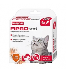 Pipettes antiparasitaires Beaphar Fiprotec pour chats