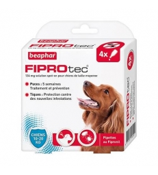 Pipettes antiparasitaires Beaphar Fiprotec pour chiens moyens